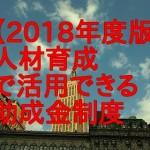 【2018年度版】人材育成で活用できる助成金制度